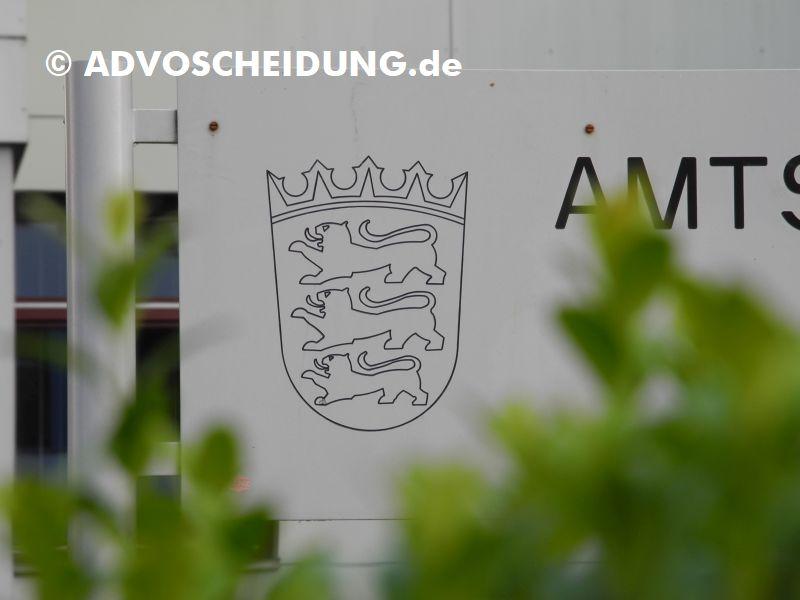 Amtsgericht - Familiengericht - Scheidung Baden-Württemberg