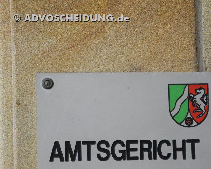 Amtsgericht - Familiengericht - Scheidung NRW