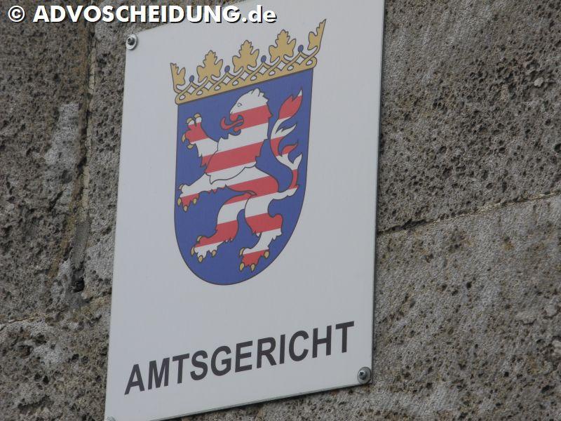 Amtsgericht - Familiengericht - Scheidung