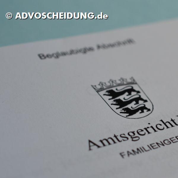 Scheidung online einreichen über das beA durch Anwalt in Tübingen