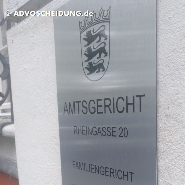 Scheidung beim Familiengericht Konstanz
