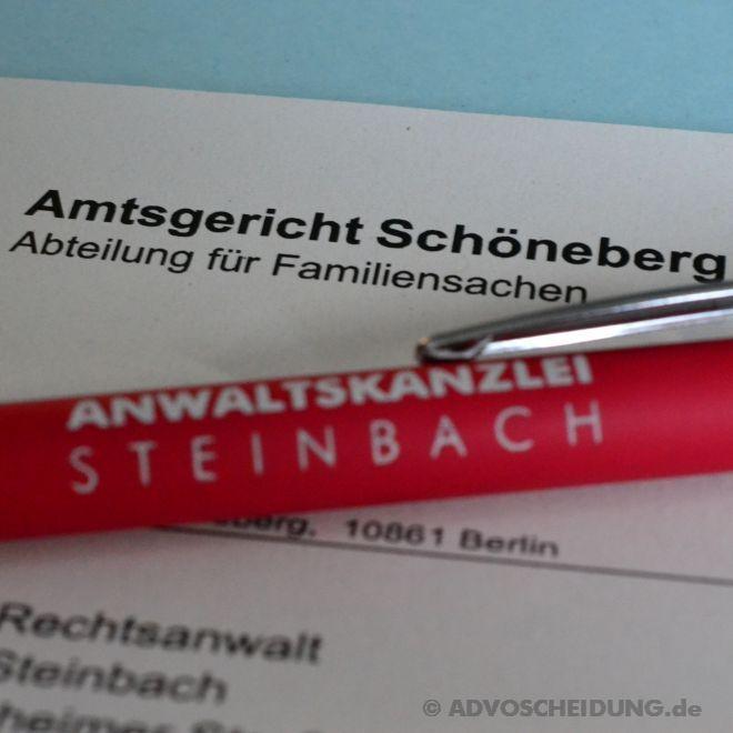 Hat kein Ehegatte einen Wohnsitz in Deutschland, ist für die Scheidung das Familiengericht Schöneberg zuständig.