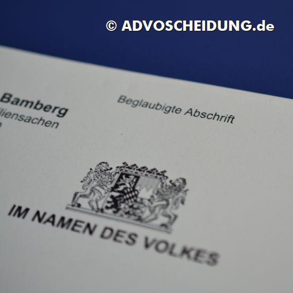 Scheidung einreichen in Bamberg durch Anwalt