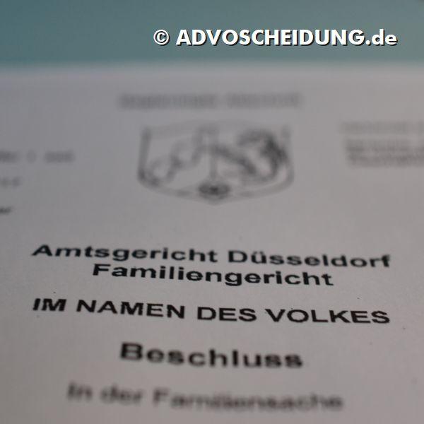 Scheidung einreichen in Düsseldorf durch Anwalt