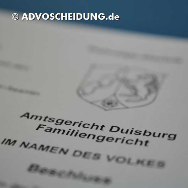 Scheidung online einreichen über das beA durch Anwalt in Duisburg