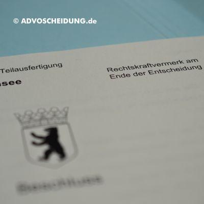 Scheidung online einreichen über beA in Berlin