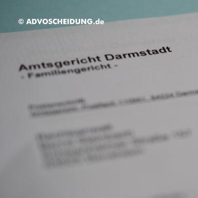 Scheidung online einreichen über beA in Darmstadt