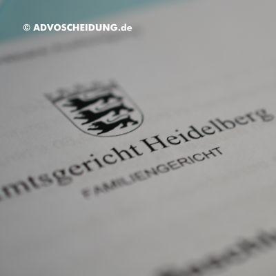 Scheidung online einreichen über beA in Heidelberg