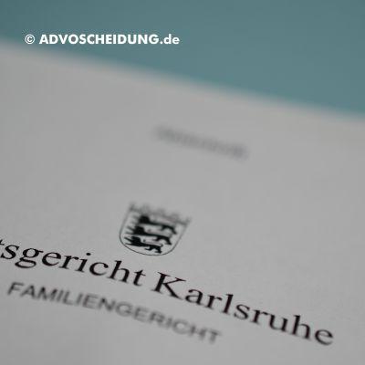 Scheidung online einreichen über beA in Karlsruhe
