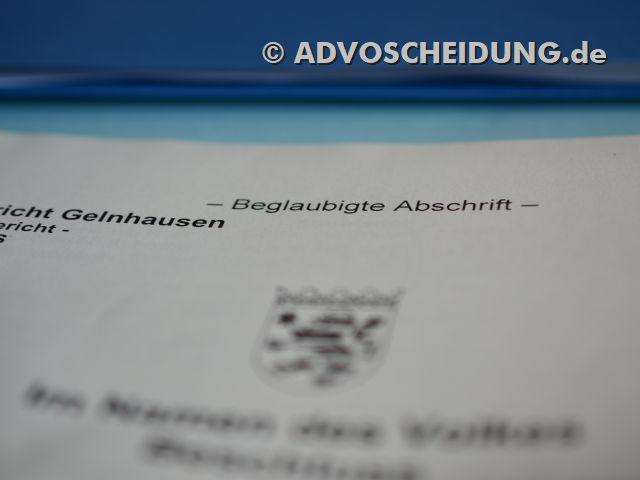 Scheidung einreichen in Gelnhausen durch Anwalt