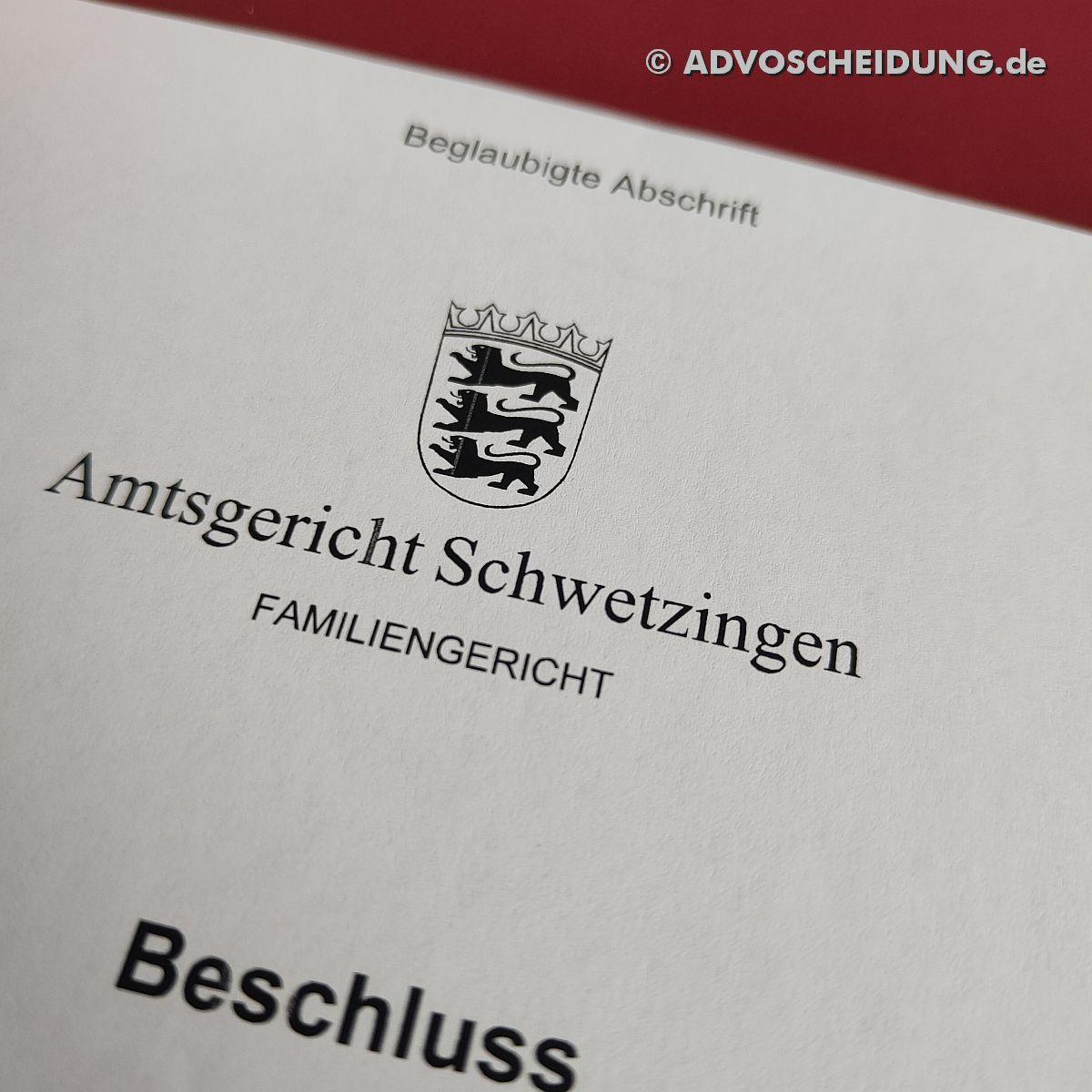 Scheidung online einreichen über das beA in Schwetzingen