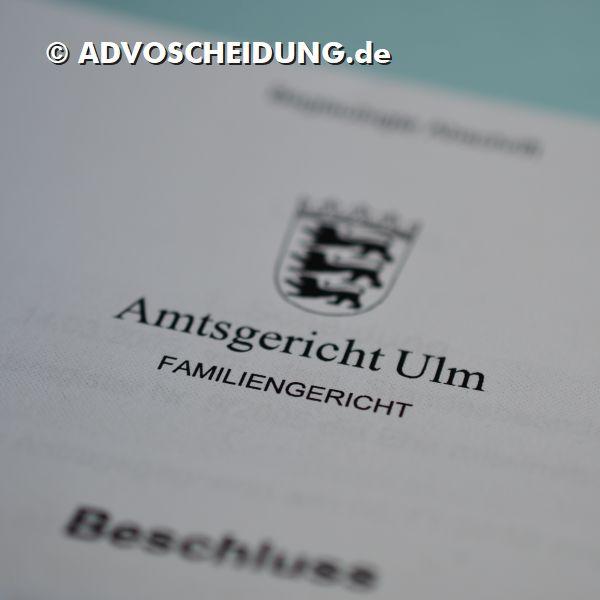 Scheidung einreichen in Ulm durch Anwalt