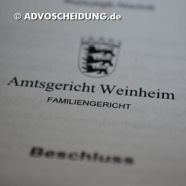 Scheidung online einreichen über das beA in Weinheim