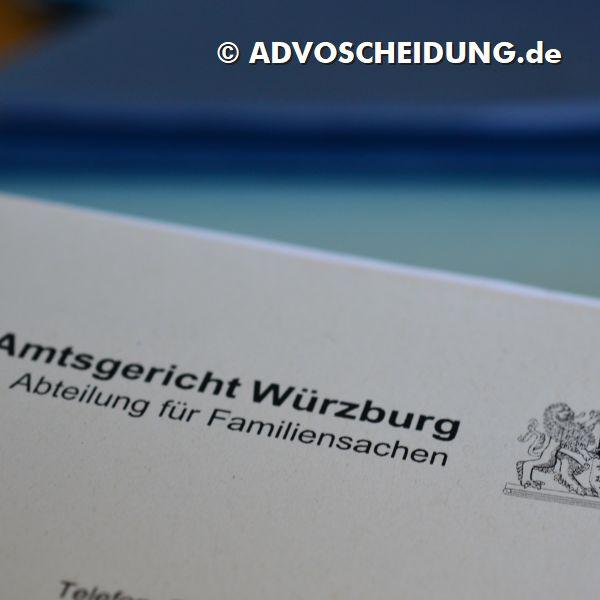 Scheidung einreichen in Würzburg durch Anwalt