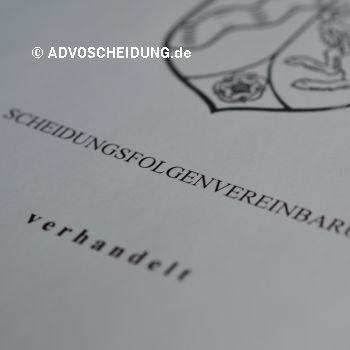 Scheidungsfolgenvereinbarung Beurkundung beim Notar